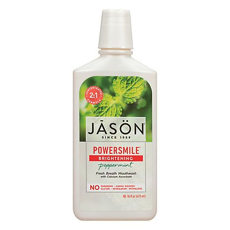 Jason Mouthwash Power Smile - 16 Oz