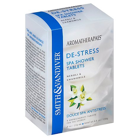 Aromatherapaes Spa Shower Tablets De-Stress Neroli & Chamomile - 6-0.8 Oz
