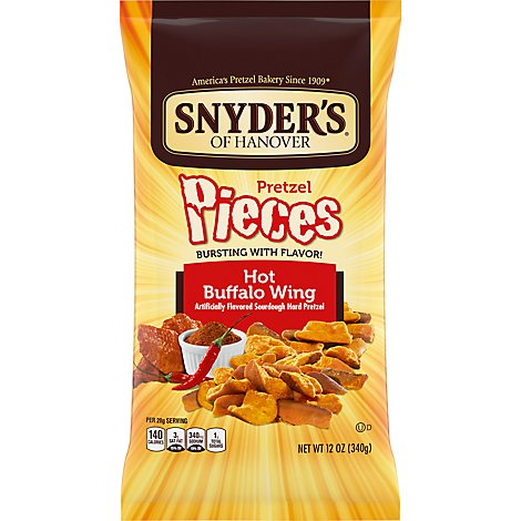 Snyders of Hanover Pretzel Pieces Hot Buffalo Wings - 12 Oz