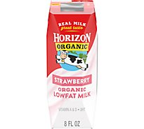Horizon Organic Milk 1% Lowfat Strawberry - 8 Fl. Oz.
