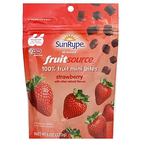 Sun-Rype Fruitsource Strawberry Mini Bites - 6 Oz