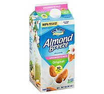 Blue Diamond Almonds Almond Breeze Milk Unsweetened Original - 64 Fl. Oz.