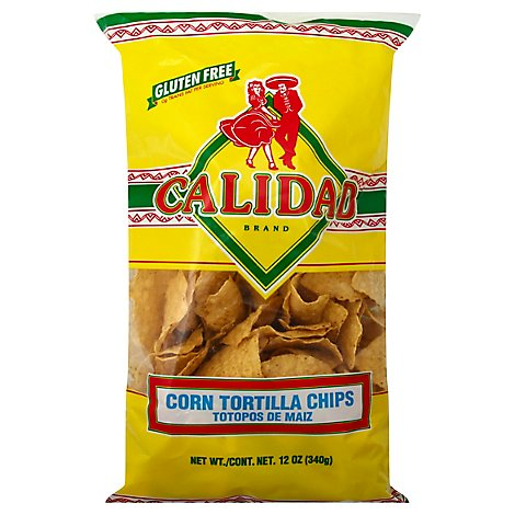 Calidad Tortilla Chips Corn - 12 Oz