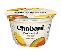 Chobani Yogurt Greek Fruit On The Bottom Low-Fat Mango - 5.3 Oz