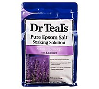 Dr Teals Soaking Solution Epsom Salt Soothe & Sleep With Lavender - 3 Lb