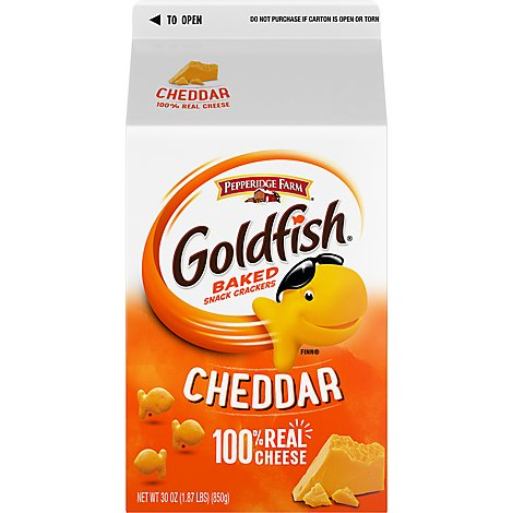 Pepperidge Farm Snack Crackers Baked Cheddar - 30 Oz