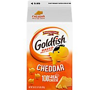 Pepperidge Farm Goldfish Crackers Baked Snack Cheddar Carton Bulk - 30 Oz