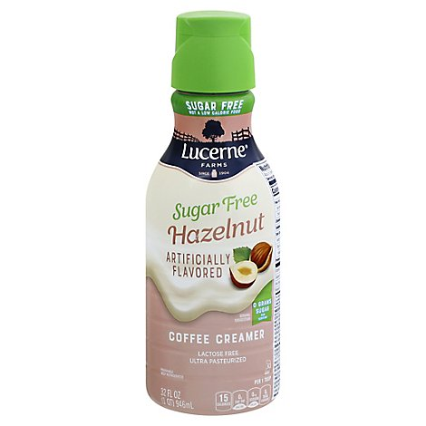 Lucerne Coffee Creamer Hazelnut Sugar Free - 32 Fl. Oz.
