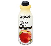 GlenOaks Yogurt Drinkable Low Fat With Probiotics Peach - 32 Fl. Oz.