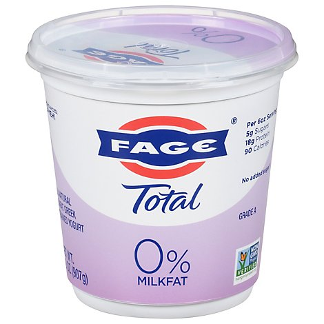 Fage Total 0% Yogurt Greek Nonfat Strained - 35.3 Oz
