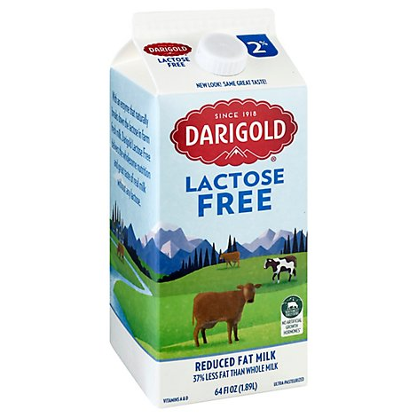 Darigold Milk Lactose Free Reduced Fat 2% - Half Gallon