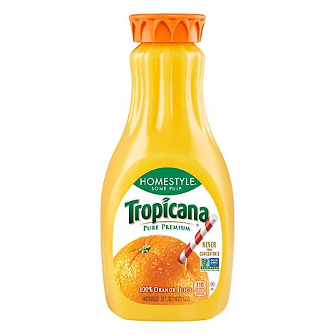 Tropicana Pure Premium Homestyle Orange Juice Some Pulp Chilled - 52 Fl. Oz.