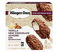 Haagen-Dazs Ice Cream Bars Vanilla Milk Chocolate Almond - 6-1.85 Fl. Oz.