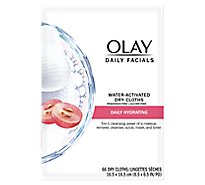 Olay Daily Facials Dry Cloths Water Activated - 66 Count