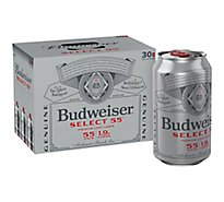 Budweiser Select 55 Beer Cans - 30-12 Fl. Oz.
