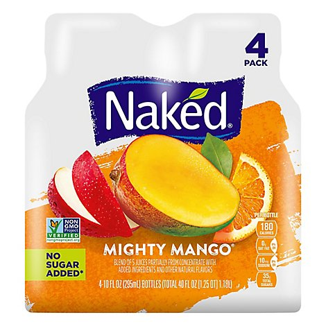 Naked Juice Mighty Mango 100% Juice Smoothie - 4-10 Fl. Oz.