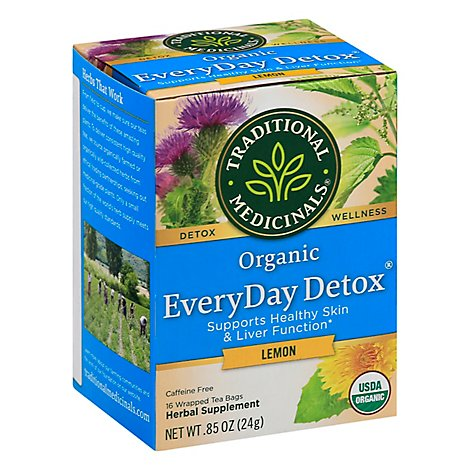 Traditional Medicinals Herbal Tea Organic EveryDay Detox Lemon - 16 Count