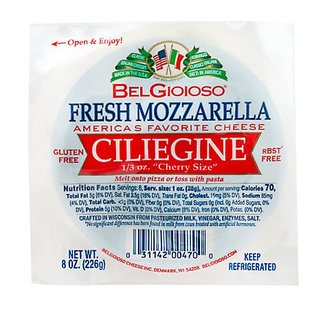 BelGioioso Cheese Themoform Ciliegine - 8 Oz