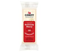 Cabot Cheese Seriously Sharp White Parchment - 8 Oz