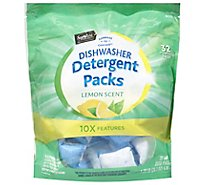 Signature SELECT Dish Powder Packs Lemon Pouch - 32 Count