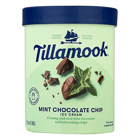 Tillamook Mint Chocolate Chip Ice Cream - 1.75 Quart