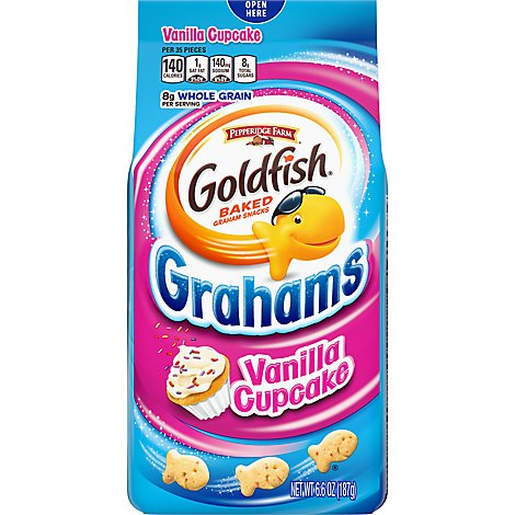 Pepperidge Farm Goldfish Grahams Baked Snack Vanilla Cupcake - 6.6 Oz