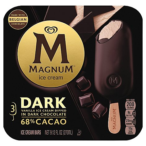 Magnum Ice Cream Bars Dark Chocolate - 9.12 Fl. Oz.
