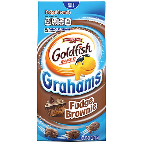 Pepperidge Farm Goldfish Grahams Baked Snack Fudge Brownie - 6.6 Oz
