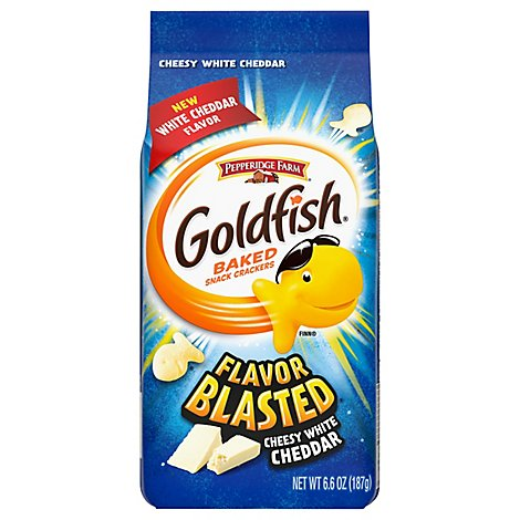 Pepperidge Farm Goldfish Crackers Baked Snack Flavor Blasted Wild White Cheddar - 6.6 Oz