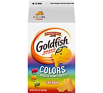 Pepperidge Farm Goldfish Crackers Baked Snack Colors Cheddar Carton Bulk - 30 Oz