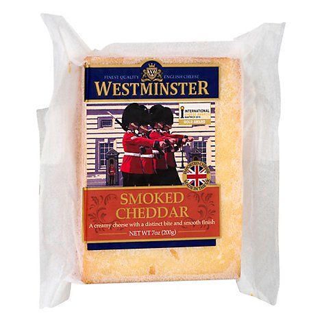 Somerdale Cheese Westminster English Cheddar Smoked - 7 Oz