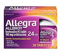 Allegra Allergy Antihistamine Tablets 12 Hour 60mg Non-Drowsy - 30 Count
