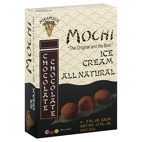 Mikawaya Mochi All Natural Chocolate Chocolate Ice Cream - 12 Fl. Oz.