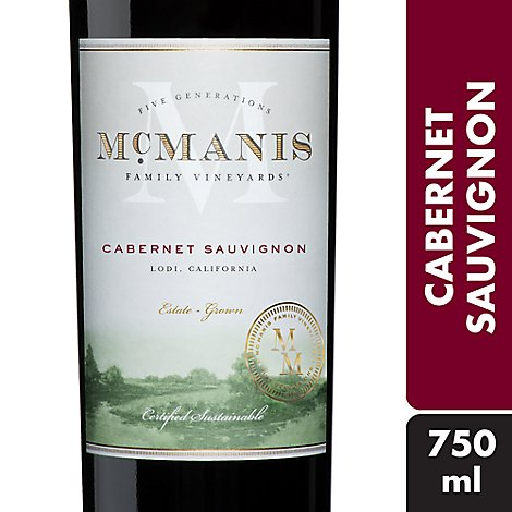 McManis Family Vineyards Wine Red Cabernet Sauvignon - 750 Ml