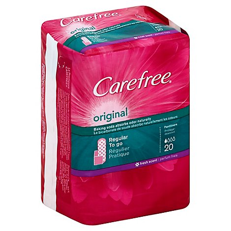 Carefree Original Pantiliners Regular Fresh Scent - 20 Count