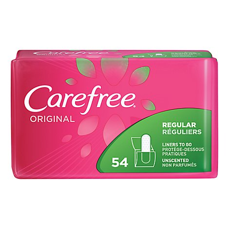 Carefree Originial Unscented To Go Pantiliner - 54 Count