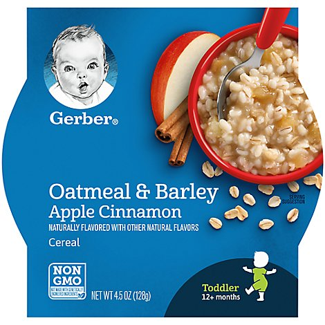 Gerber Breakfast Buddies Cereal Hot With Real Fruit Apple Cinnamon - 4.5 Oz
