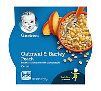 Gerber Baby Food Toddler Cereal Oatmeal & Barley Peach - 4.5 Oz