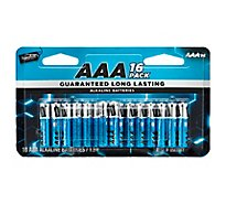 Signature SELECT Batteries Alkaline AAA Guaranteed Long Lasting - 16 Count