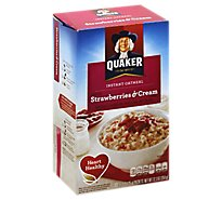 Quaker Oatmeal Instant Strawberries & Cream - 10-1.23 Oz