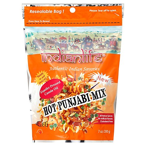 Indianlife Hot Punjabi Snack - 7 Oz
