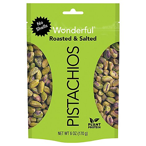 Wonderful Pistachios No Shells Roasted & Salted Pistachios - 6 Oz.