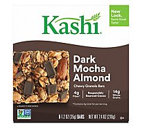 Kashi Chewy Granola Bars Dark Mocha Almond 6 Count - 7.4 Oz