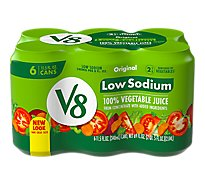 V8 Vegetable Juice Low Sodium Original - 6-11.5 Fl. Oz.