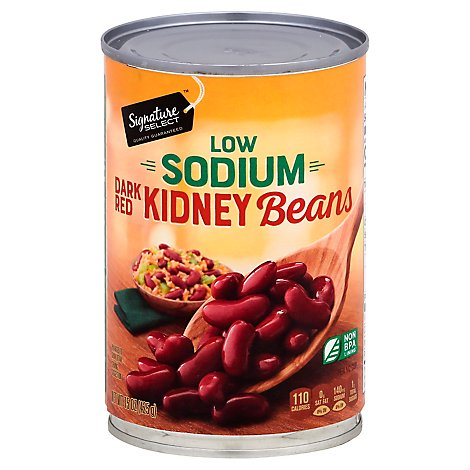 Signature SELECT Beans Kidney Dark Red Low Sodium - 15.5 Oz