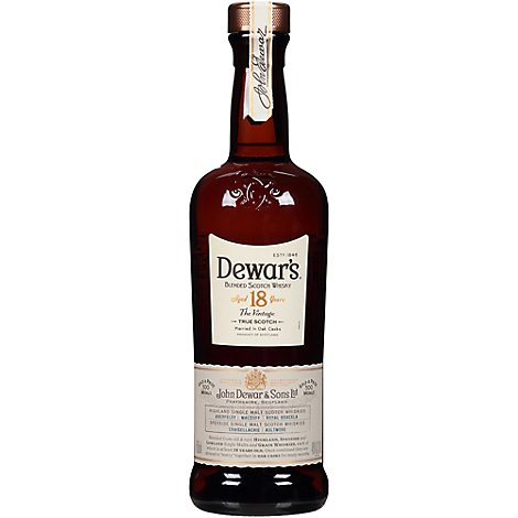 Dewars Scotch 18 Year Founders Reserve 80 Proof - 750 Ml