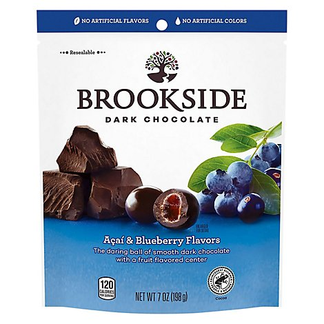 Brookside Dark Chocolate Acai and Blueberry Flavors - 7 Oz