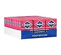 Diamond Toothpicks Round Box - 250 Count