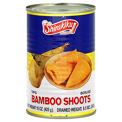 Shirakiku Bamboo Shoots Tips- Hawaii - 8.5 Oz