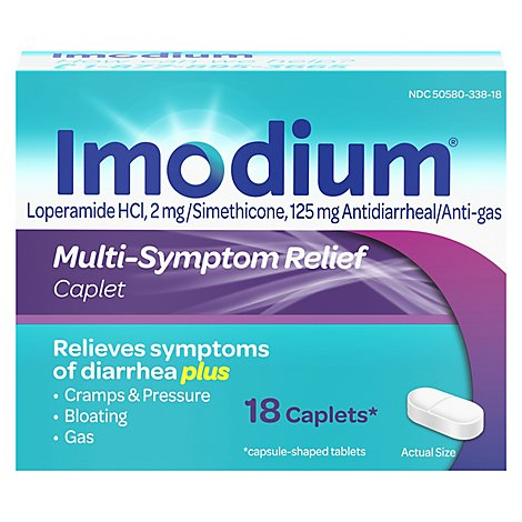 Imodium Multi-Symptom Relief Caplets - 18 Count